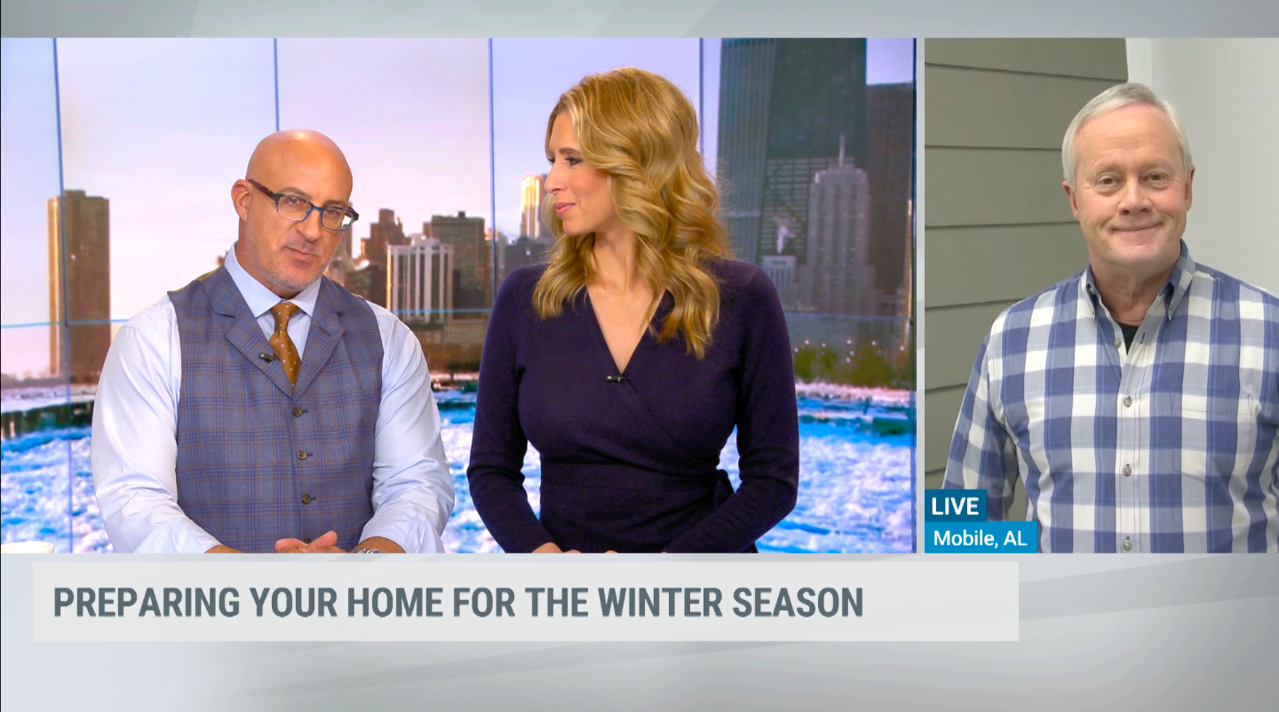 Danny on The Weather Channel providing tips to prepare your home for the winter season