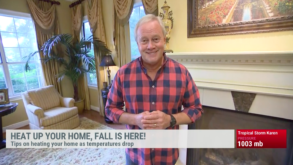 Danny talks with his friends at The Weather Channel and provides safety tips for heating your home
